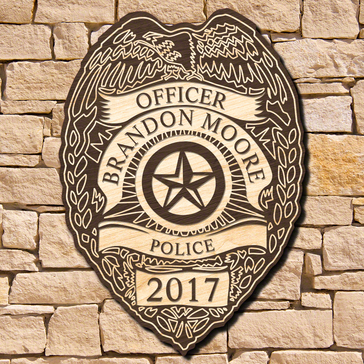 Police Badge Custom Sign (Signature Series)