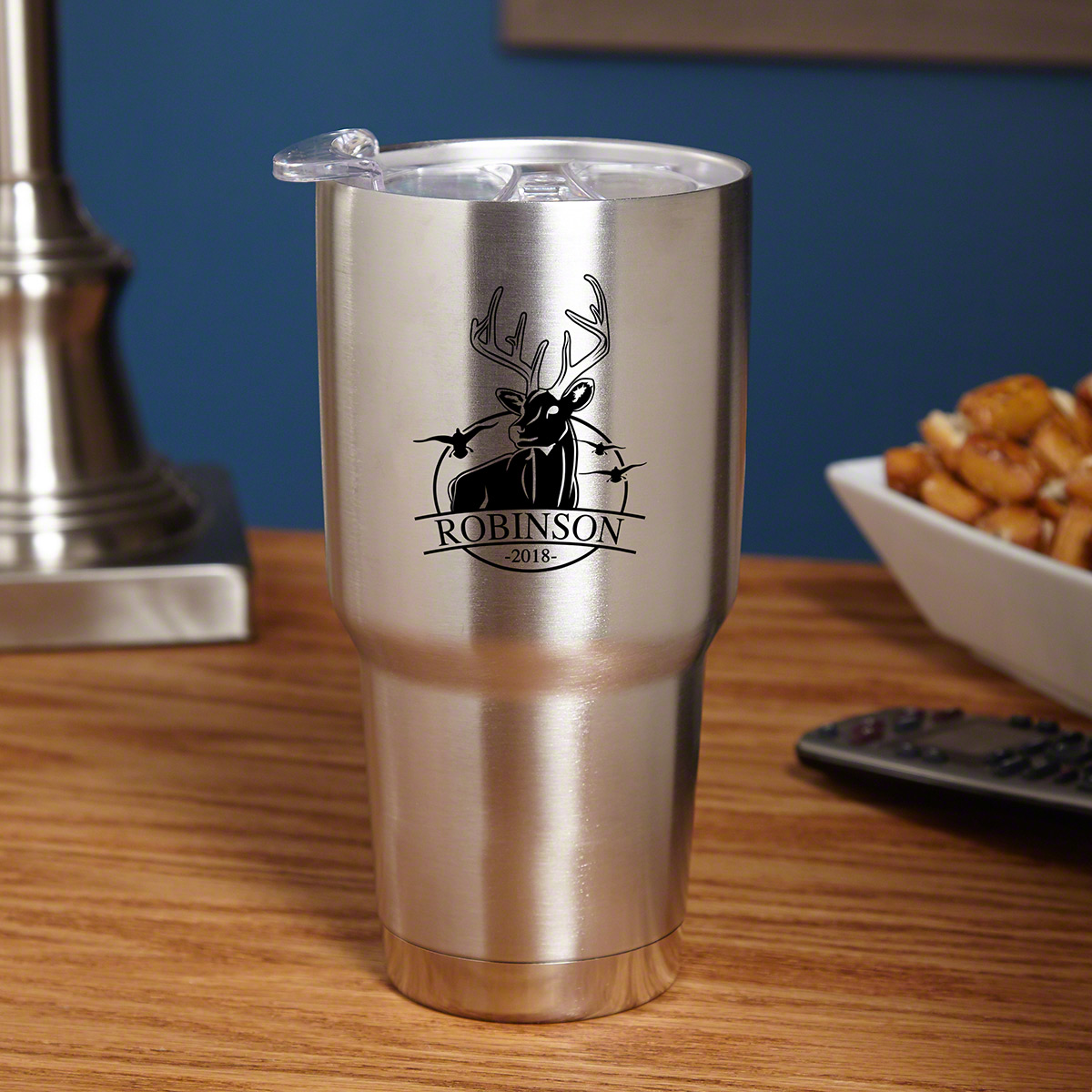 Bird and Buck Hunter Stainless Steel Engraved Tumbler for Hunters
