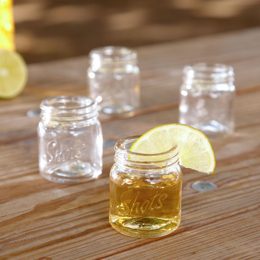 Cool Shots Mason Jar Shot Glasses, Set of 4
