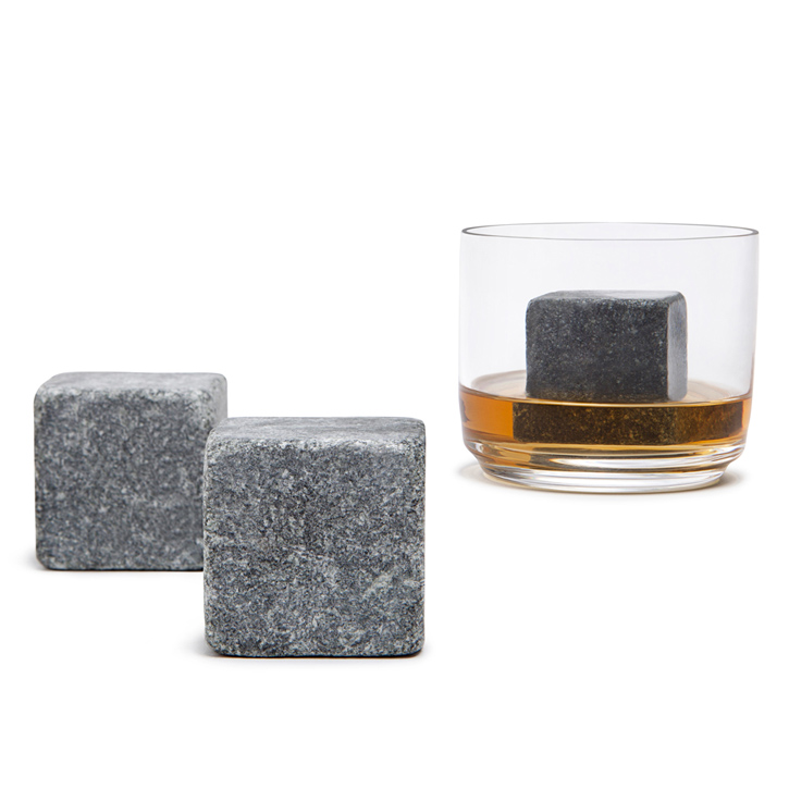 XL Natural Soapstone Whiskey Stones, Set of 2