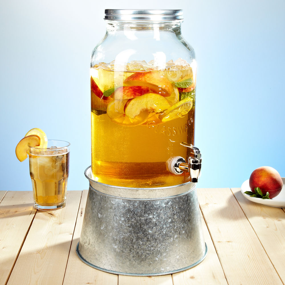 1000 Images About Drink Dispenser Recipes On Pinterest: Mason Jar Beverage Dispenser With Party Tub