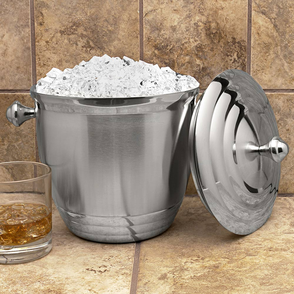 Sorrento-Stainless-Steel-Ice-Bucket-(Engravable)