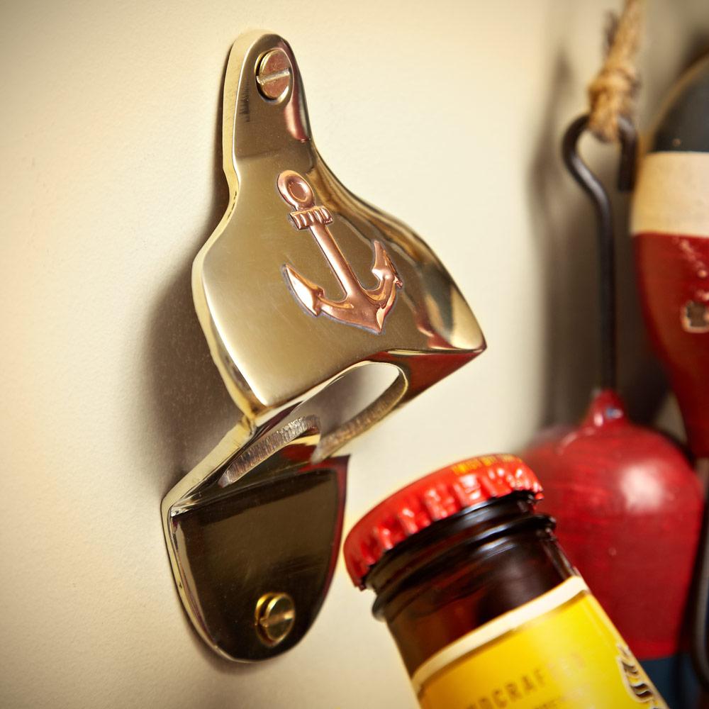 Anchors Away Wall-Mounted Bottle Opener