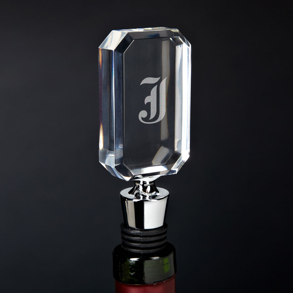 Personalized Clear Acrylic Wine Stopper