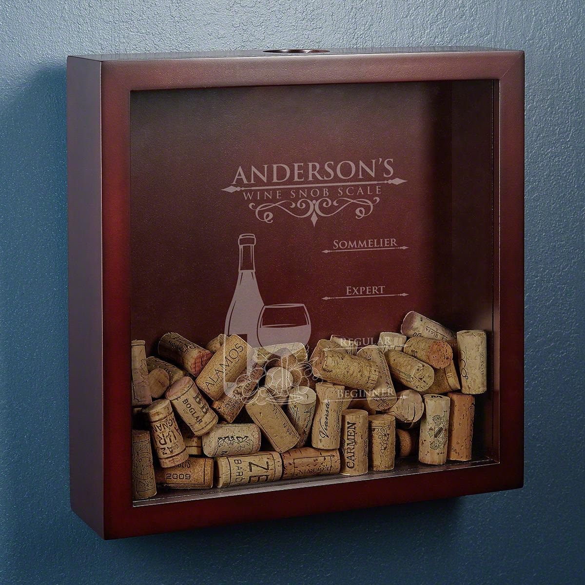 Wine Snob Scale Personalized Wine Cork Keeper