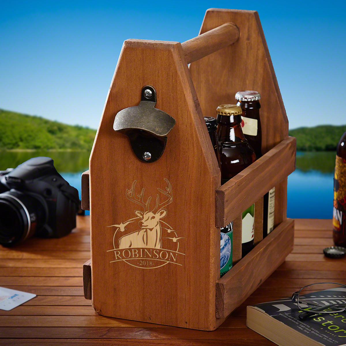 Outdoor Life Custom Beer 6 Pack Carrier for Hunters