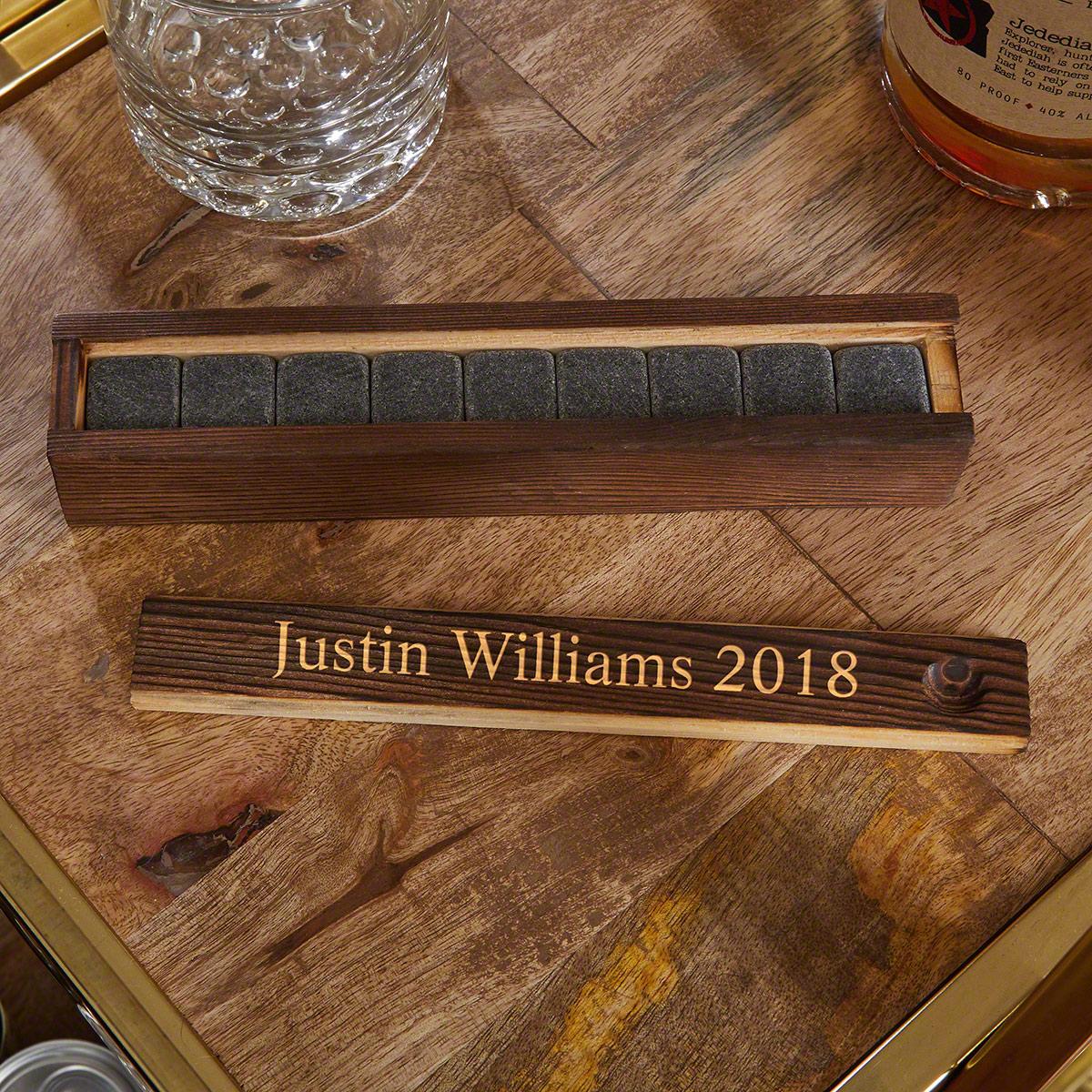 Burton Whiskey Stones & Personalized Gift Box Set