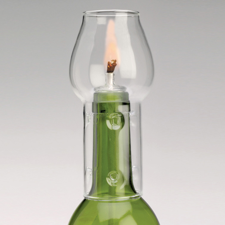 Wine-Bottle-Candle-with-Flame-Protector