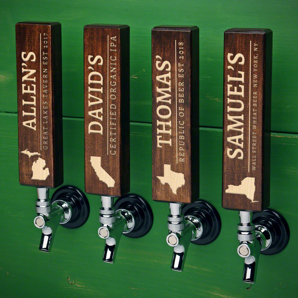 Well-Crafted Home State Tap Handles