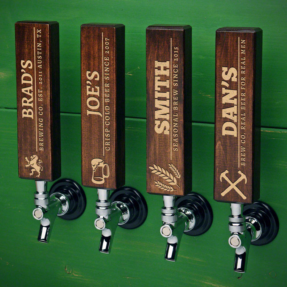 Well-Crafted Custom Beer Tap Handle Dark Walnut