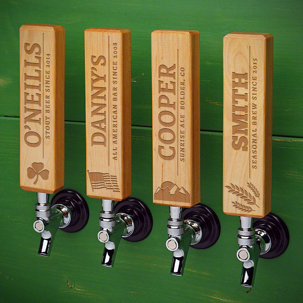 Well-Crafted Custom Beer Tap Handle Natural