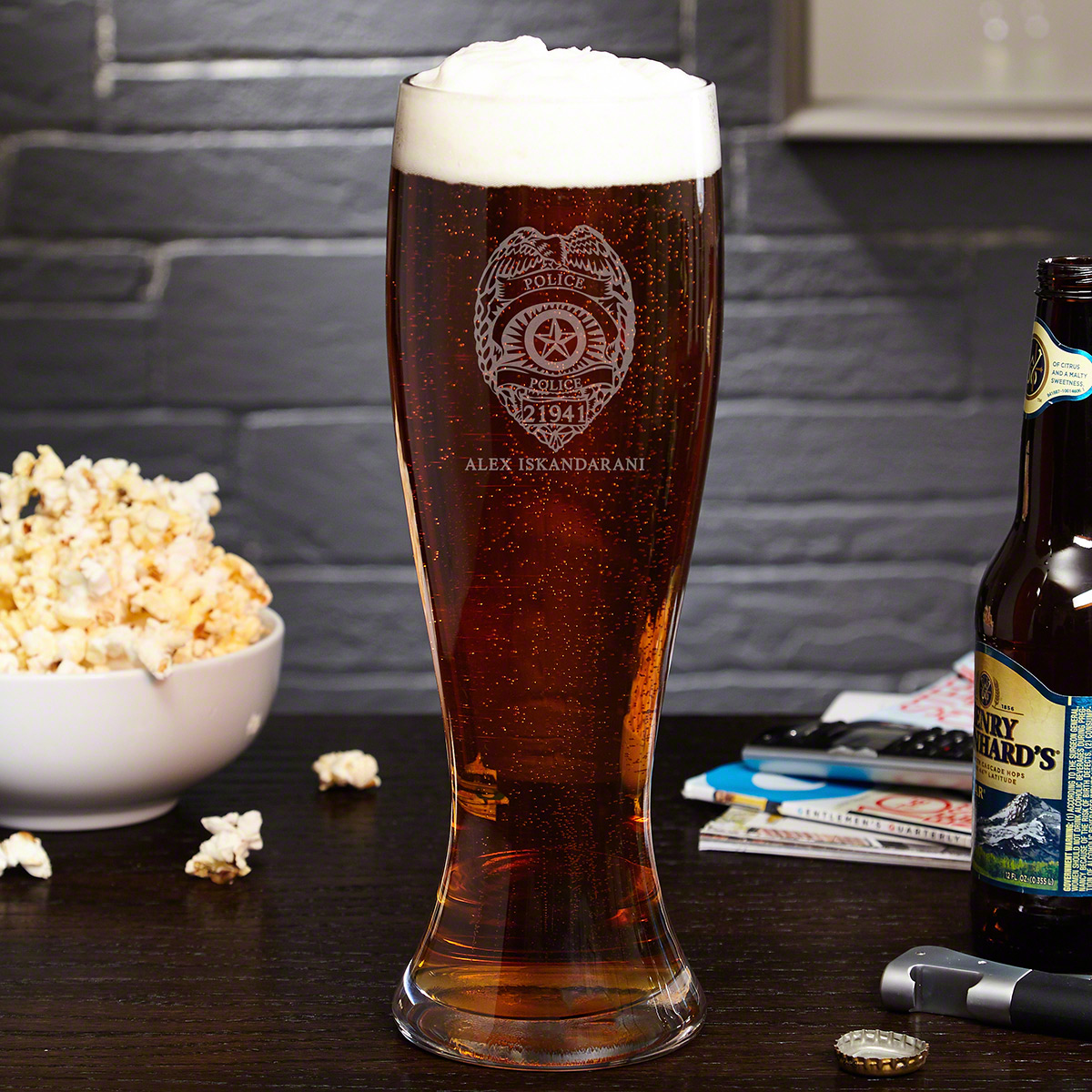 Police Badge Giant Extra Large Custom Beer Glass