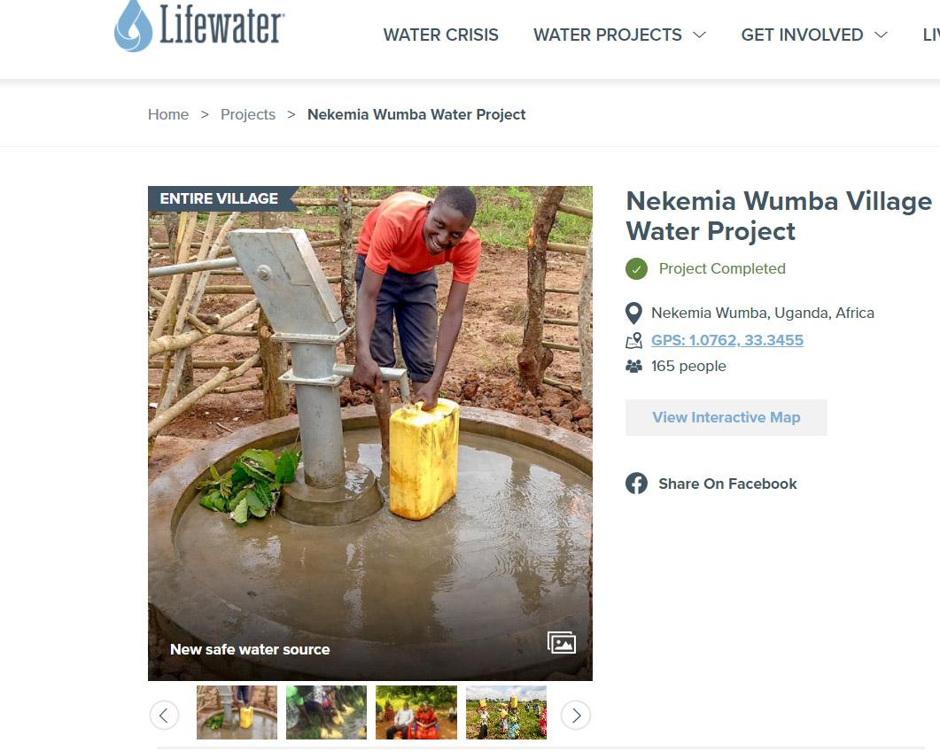 water well in Uganda