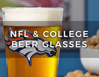 College & NFL Beer Glasses
