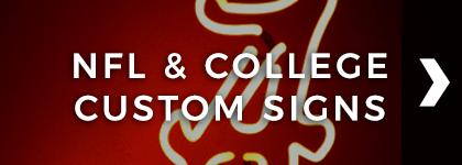 NFL & College Custom Signs
