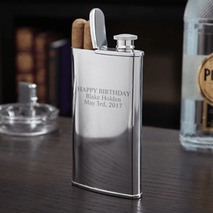 2-IN-1 Cigar Holder and Flask