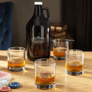 Kensington Personalized Whiskey Glasses and Growlers