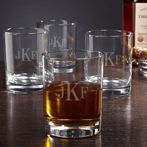 Eastham Monogrammed Rocks Glasses, Set of 4